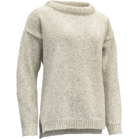 Devold Nansen Gespleten Zoom Sweater Dames, grey melange